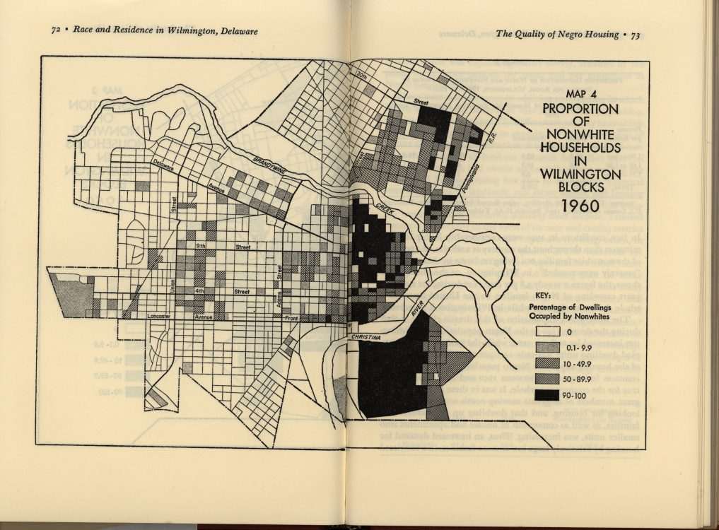 Proportion of nonwhite households in Wilmington blocks, 1960 (map)