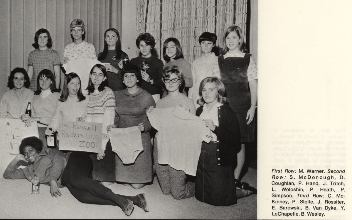 Russell D & E residents. Blue Hen 1968, page 56