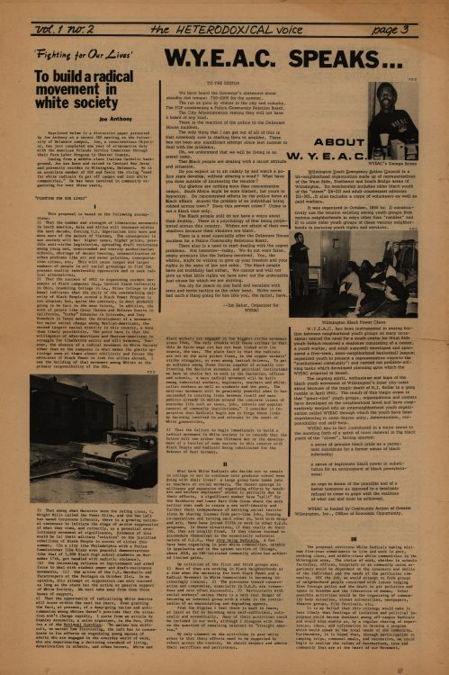 The Heterodoxical Voice, 1968 April. Volume 1, number 2, page 3 (full page)