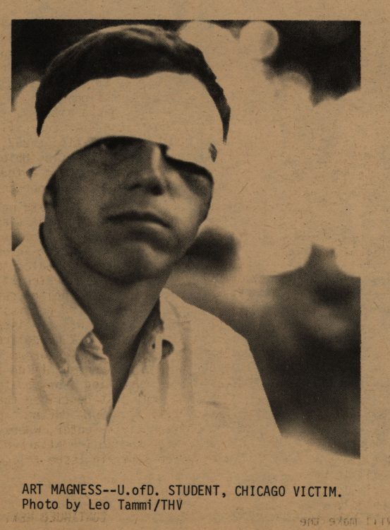 Art Magness, U. of D. student, Chicago victim (photograph). The Heterodoxical Voice, 1968 September. Volume 1, number 6, page 11