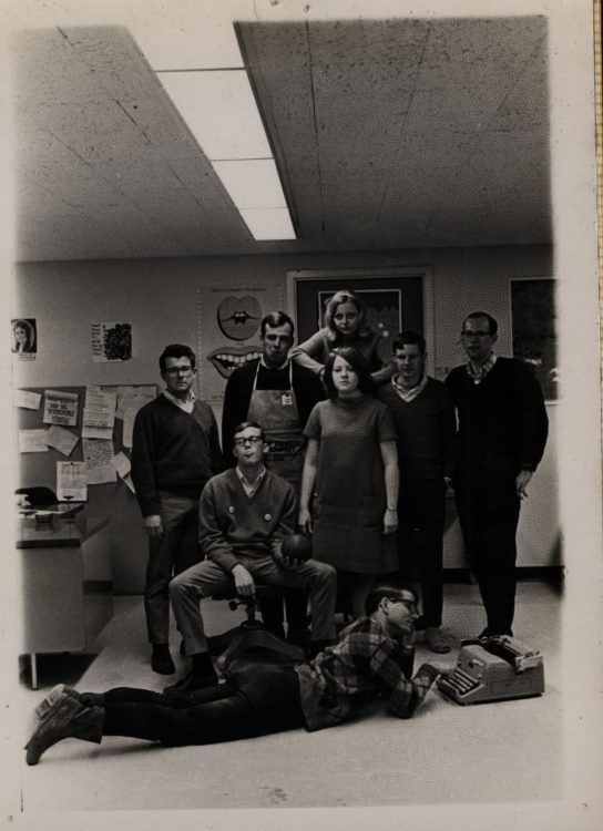 Editorial staff of The Review (photograph), 1968