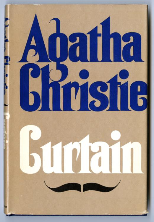 Christie, Agatha. Curtain. Book club edition, Dodd, Mead, 1975. Publisher's file copy.