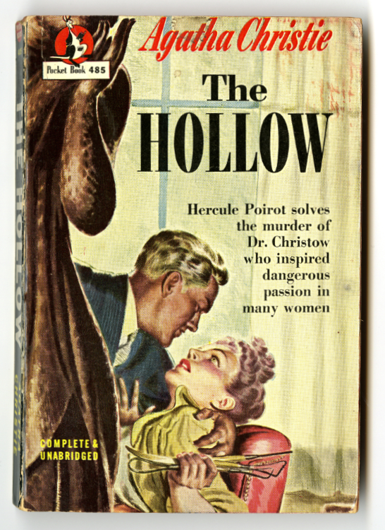 Christie, Agatha. The Hollow. New York: Pocket Books, 1948. W. Merritt Burke III pulp paperback book collection, 1930-1949 (MSS 0559).