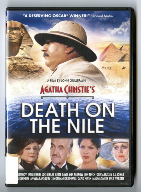 Death on the Nile. Directed by John Guillermin, screenplay by Anthony Shaffer, Lionsgate, 2009. Film and Video collection DVD 14107.