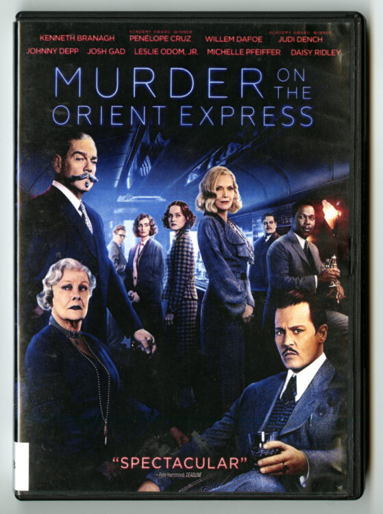 Murder on the Orient Express. Directed by Kenneth Branagh, screenplay by Michael Green, 20th Century Fox Home Entertainment, 2018. Film and Video collection DVD 19538.