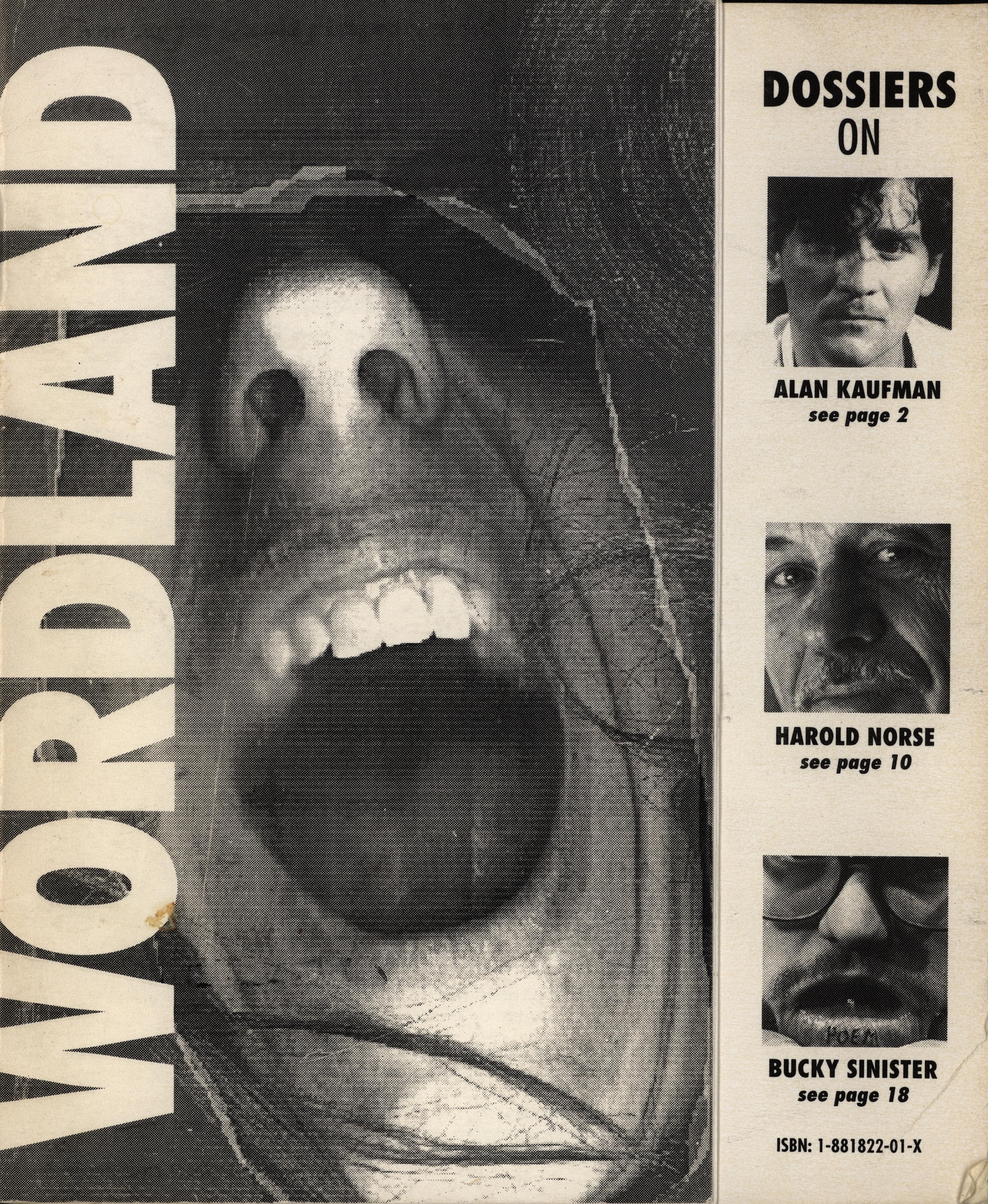Kaufman, Alan, Harold Norse, and Bucky Sinister. Wordland. San Francisco: Wordland Books, 1992