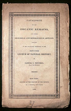 Catalogue of the Organic Remains