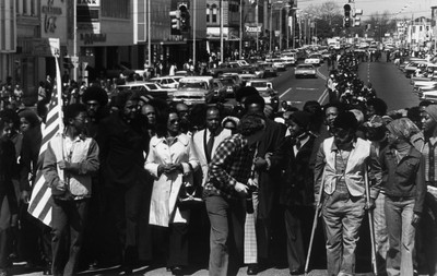 William Anderson, The Struggle Goes On, Selma, AL, 1975, gelatin silver print. Museums Collections, Gift of Paul R. Jones