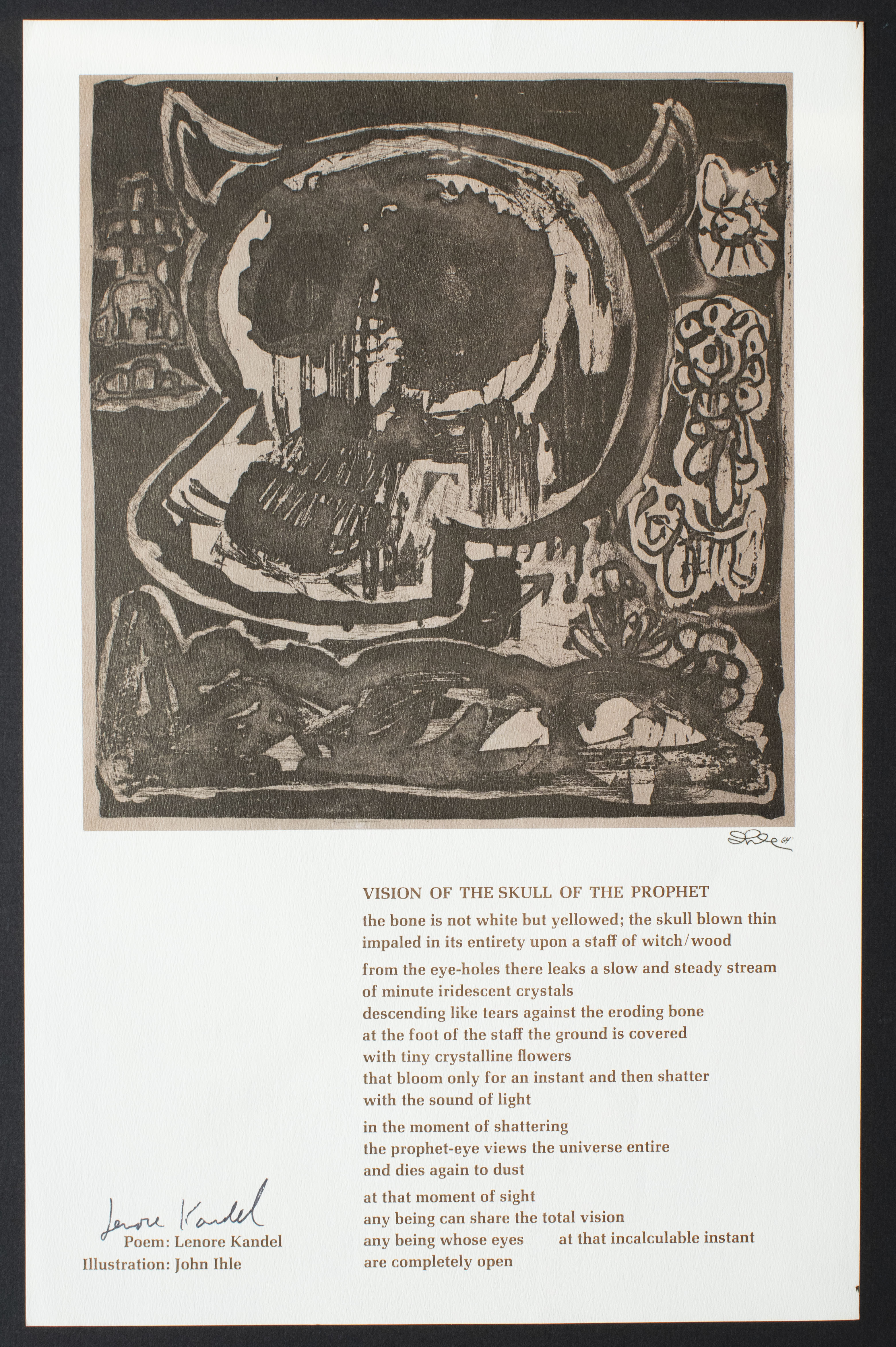 Lenore Kandel and John Ihle. Vision of the Skull of the Prophet, 1964