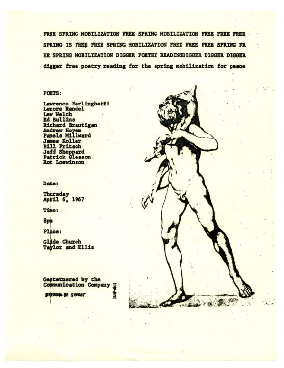 Free Spring Mobilization …: Digger Free Poetry Reading for the Spring Mobilization for Peace, 1967