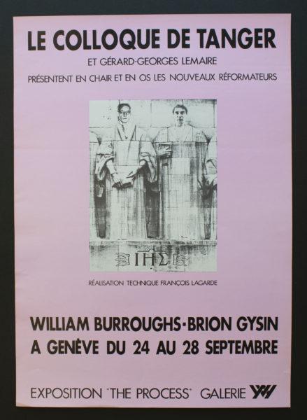 Le Colloque de Tanger, William Burroughs – Brion Gysin, 1977