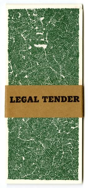 Bruce Conner. Legal Tender, 1968.