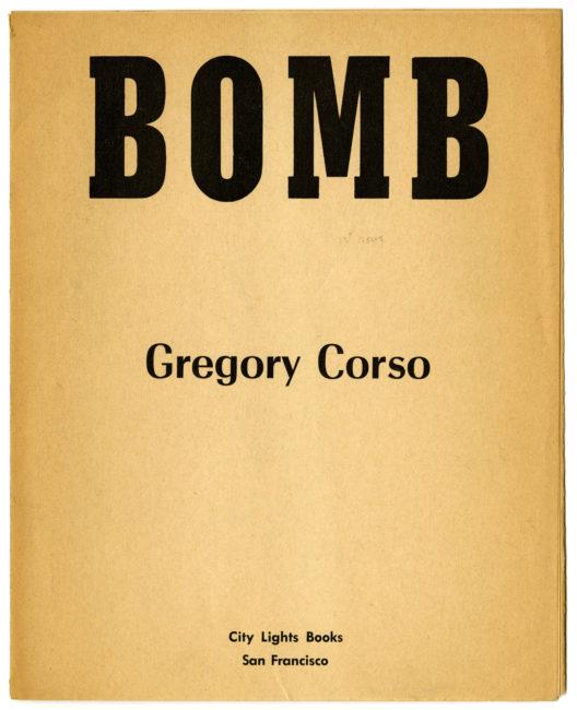 Gregory Corso Bomb, 1958