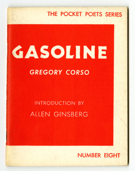 Gregory Corso. Gasoline, 1958.