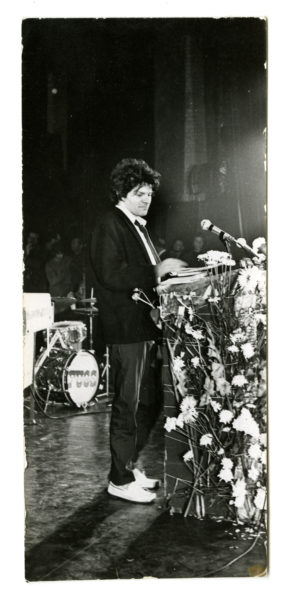 Karl Bissinger (American, 1914 – 2008) [Gregory Corso reading at Angry Arts Week event], 1967