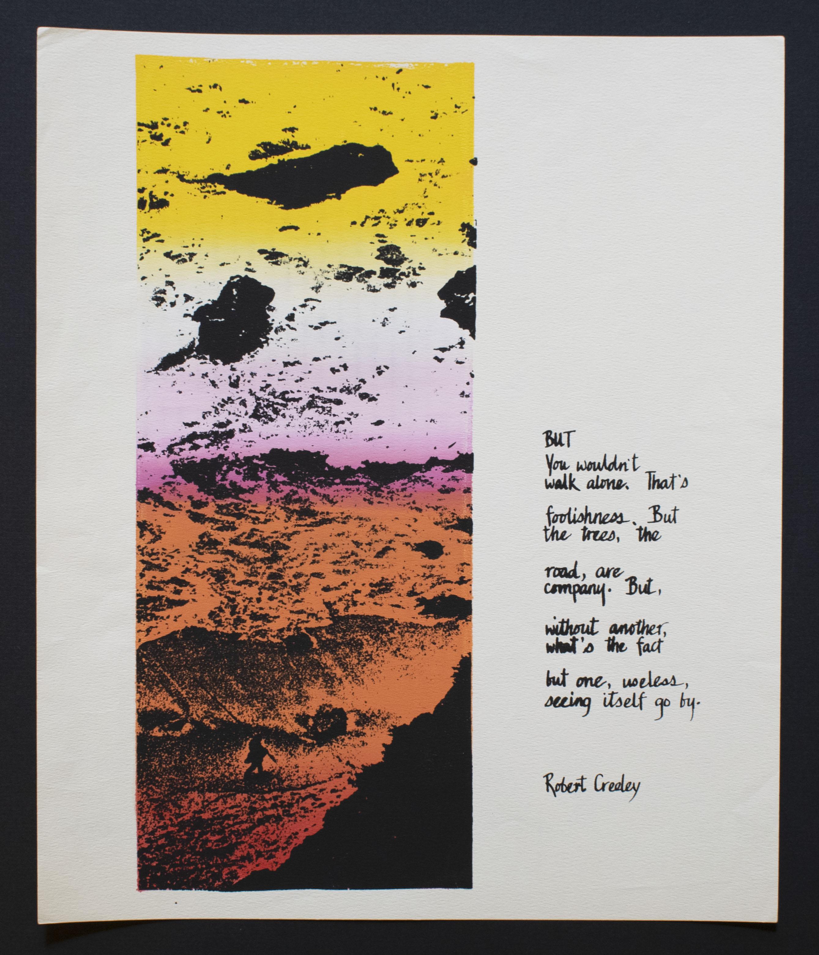 Robert Creeley (American, 1926 – 2005). But, 1975.