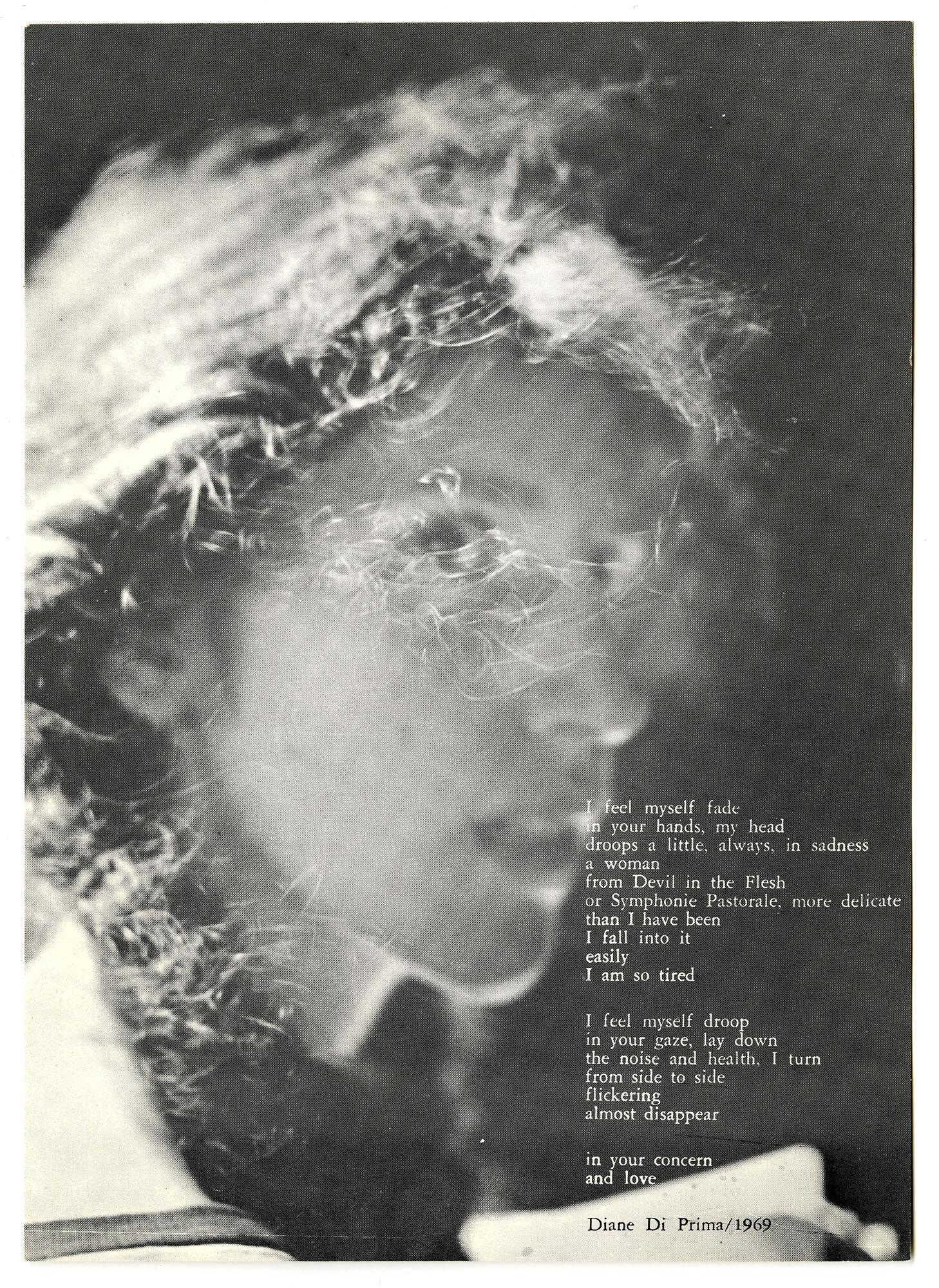 Diane di Prima, I Feel Myself Fade, 1969