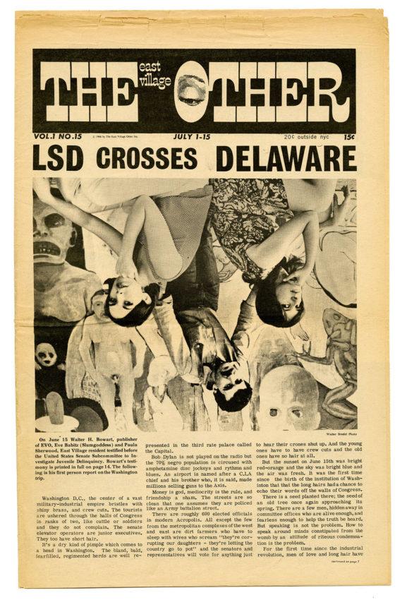"East Village Other, ""LSD Crosses Delaware,"" July 1-15, 1966"