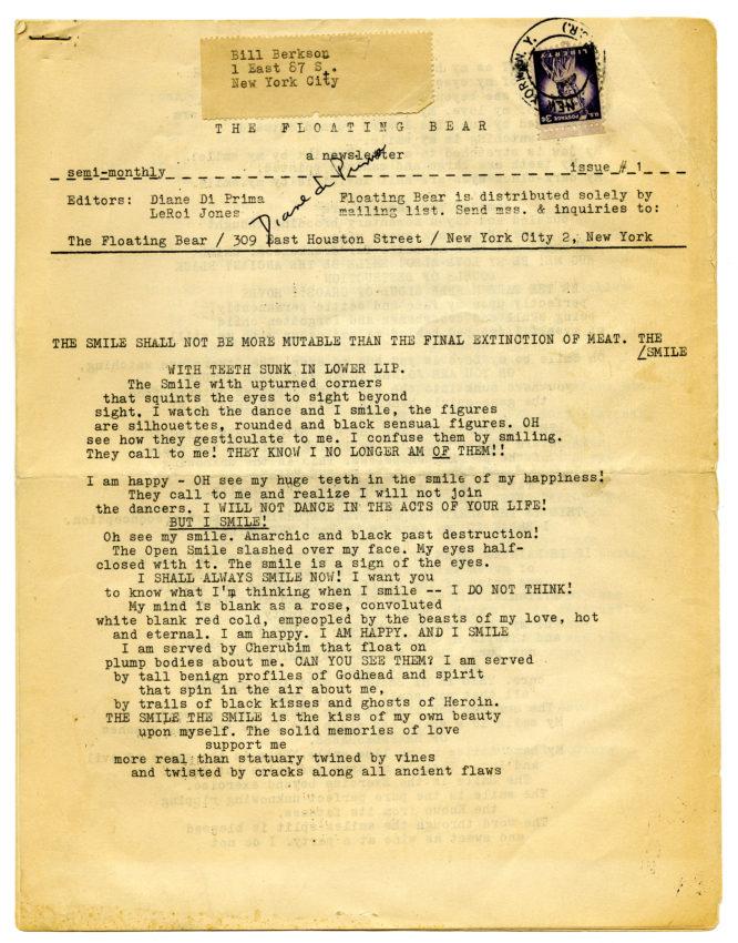 Floating Bear number 1 (February 1961)