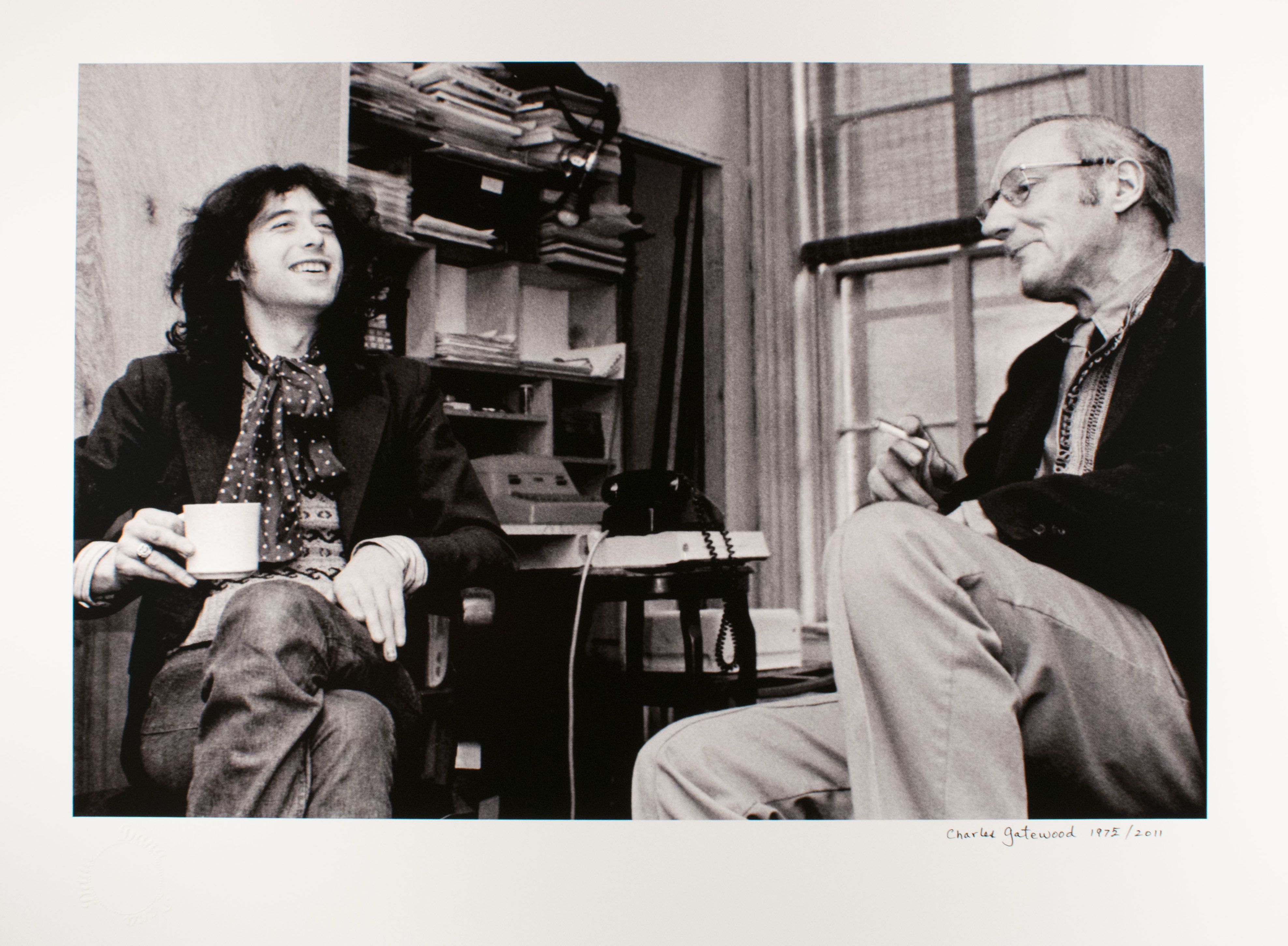 Charles Gatewood (American, 1942 – 2016). William Burroughs and Jimmy Page, New York, 1975 (1)