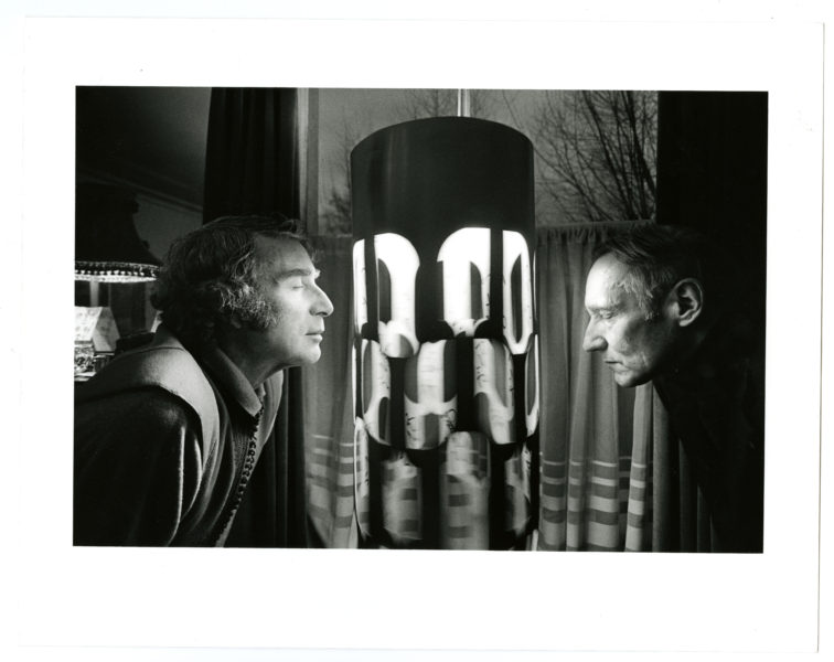 Charles Gatewood (American, 1942 – 2016). Brion Gysin, William Burroughs and the Dream Machine, London, 1972.