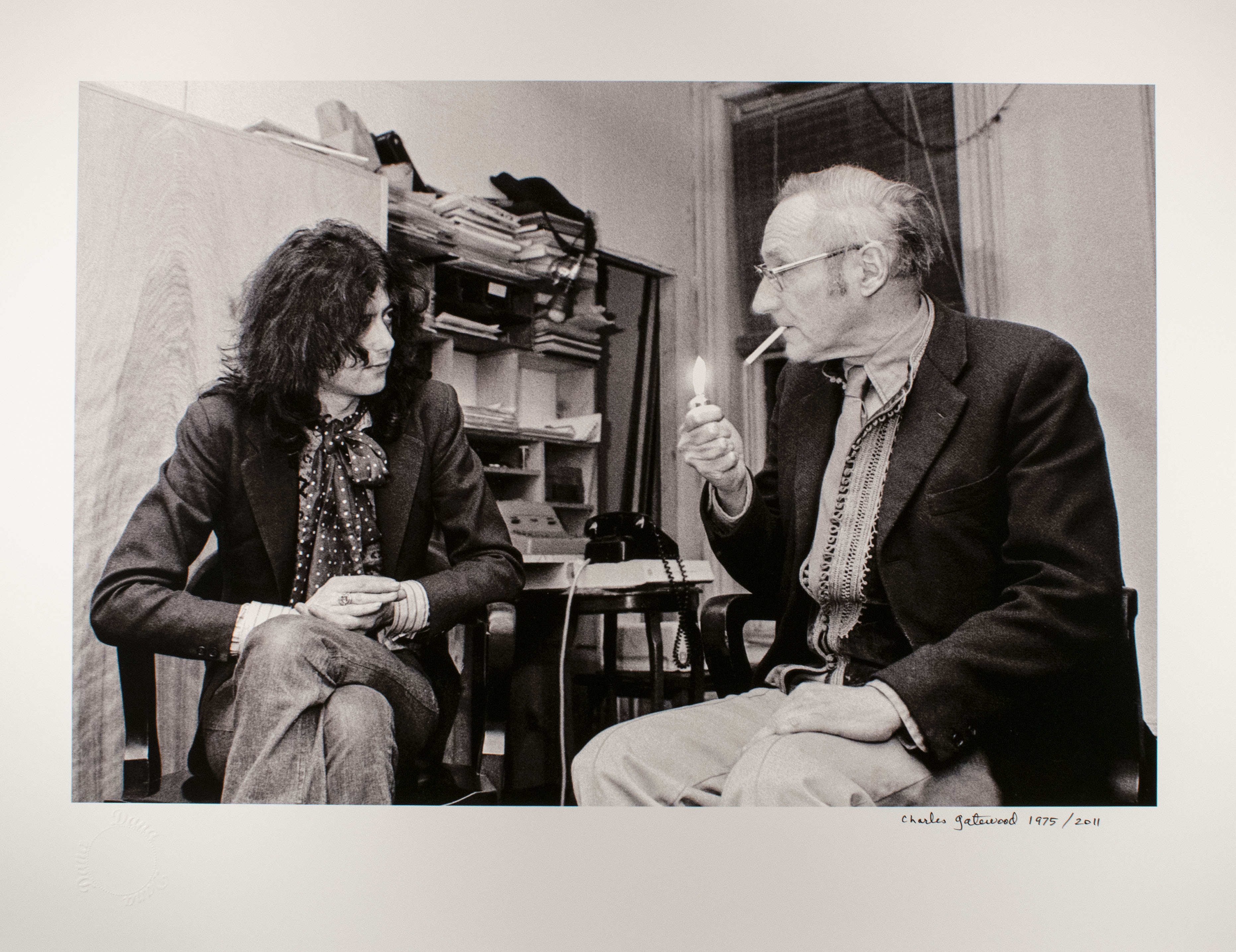 Charles Gatewood (American, 1942 – 2016). William Burroughs and Jimmy Page, New York, 1975 (2)