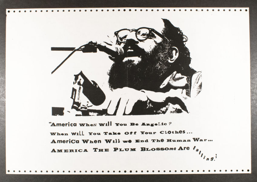 Political Poster Workshop at the University of California, Berkeley Allen Ginsberg. America, When Will You Be Angelic?