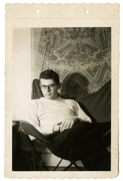 Photographer unknown. [Allen Ginsberg at Columbia], ca. 1945.