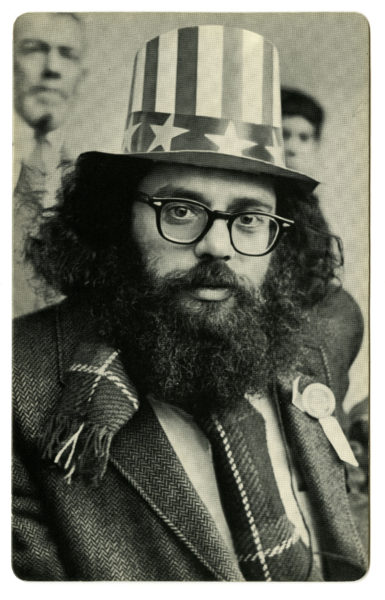 Fred W. McDarrah (American, 1926 – 2007) Allen Ginsberg in Uncle Sam Hat [Ginsberg on Central Park Bandstand, 5th Avenue Peace Demonstration to Stop the War in Vietnam], 1966