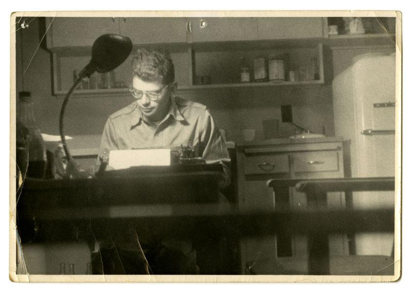 Peter Orlovsky (American, 1933 – 2010). [Allen Ginsberg at Typewriter, San Francisco], 1956.