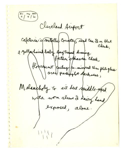 Allen Ginsberg (American, 1926 – 1997) Allen Ginsberg, four manuscript pages for Scrap Leaves (3)