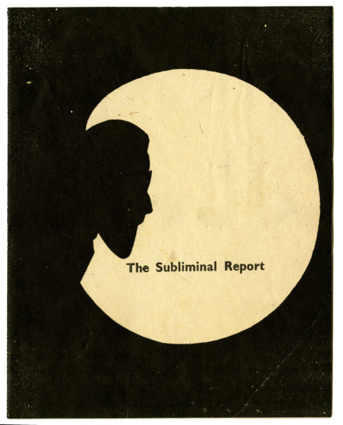 Angus Maclise. The Subliminal Report, 1975