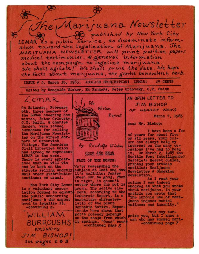 The Marijuana Newsletter, no. 2, 1965