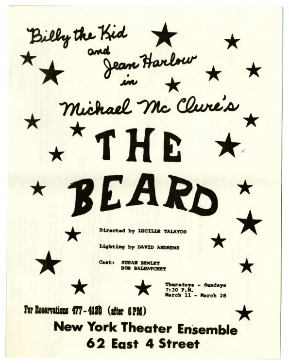 Five rare pieces of ephemera relating to McClure's notorious and controversial play The Beard (3)