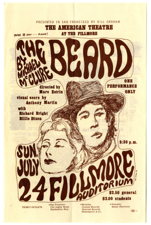 Five rare pieces of ephemera relating to McClure's notorious and controversial play The Beard (5)