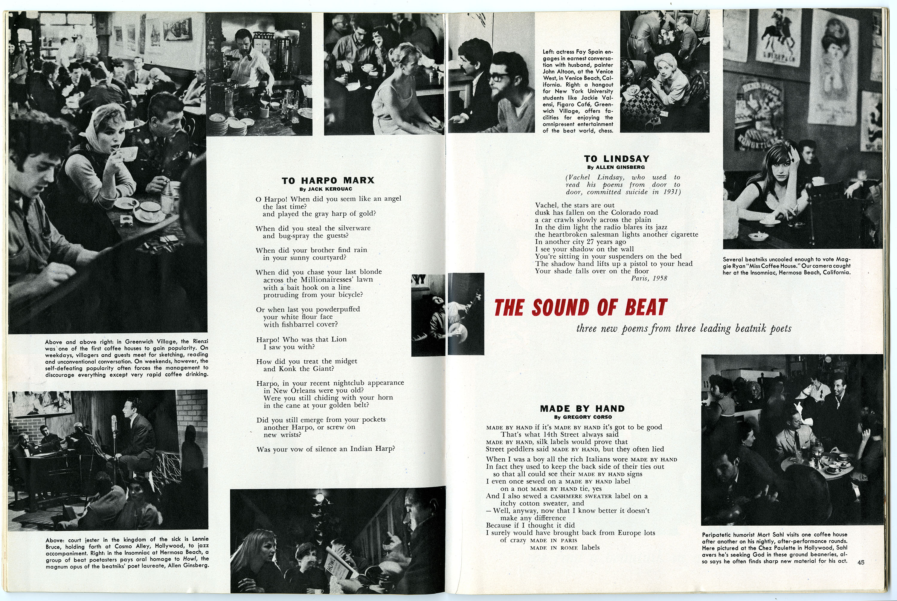 """""""The Sound of Beat,"""" and """"Coffeehouses of America,"""" Playboy. July 1959"""