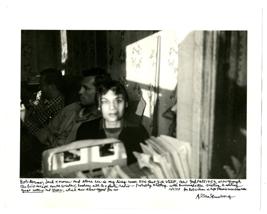 Allen Ginsberg (American, 1926 – 1997). Bob Merims, Jack Kerouac, and Alene Lee in my living room…,1953.
