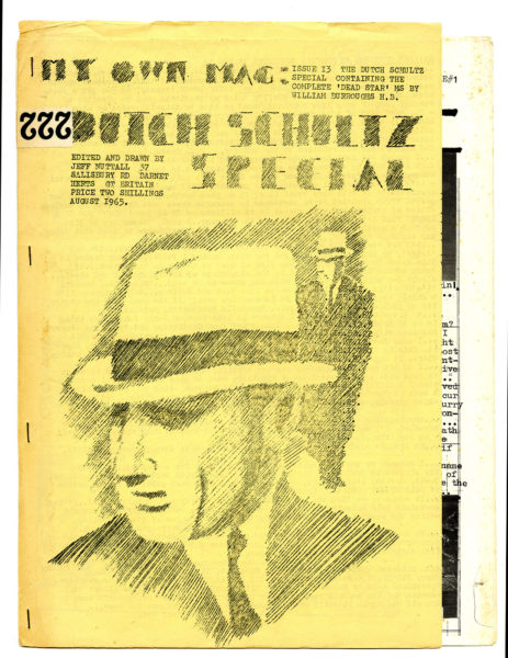 """My Own Mag, ed. Jeff Nuttall, issue 13 (""""The Dutch Schultz Special""""), August 1965"""