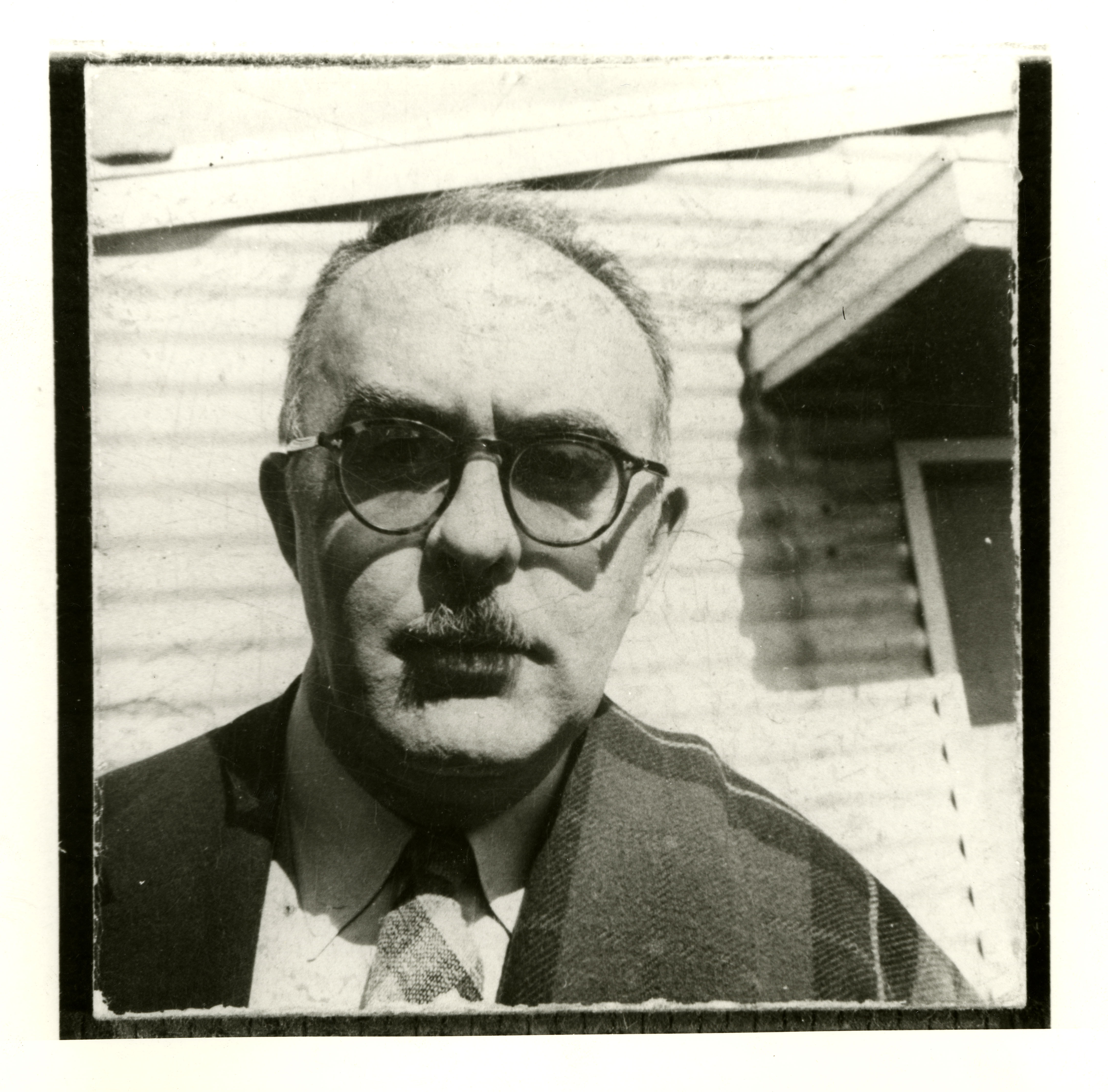 Photographer unknown. [Charles Olson at Black Mountain College], ca. 1952. (1)