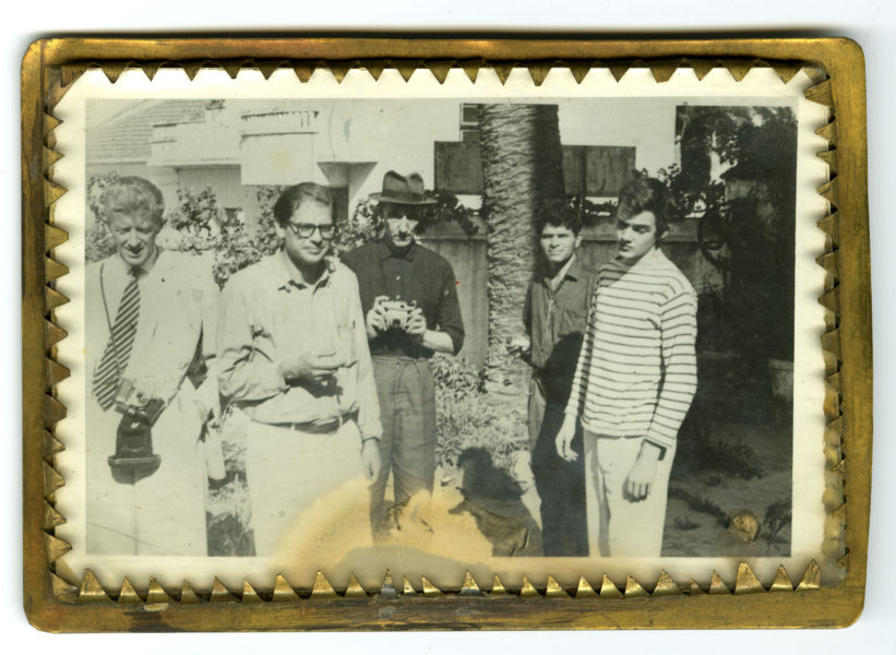 Allen Ginsberg [Paul Bowles, Allen Ginsberg, William S. Burroughs, Gregory Corso, Michael Portman, Tangier], 1961.