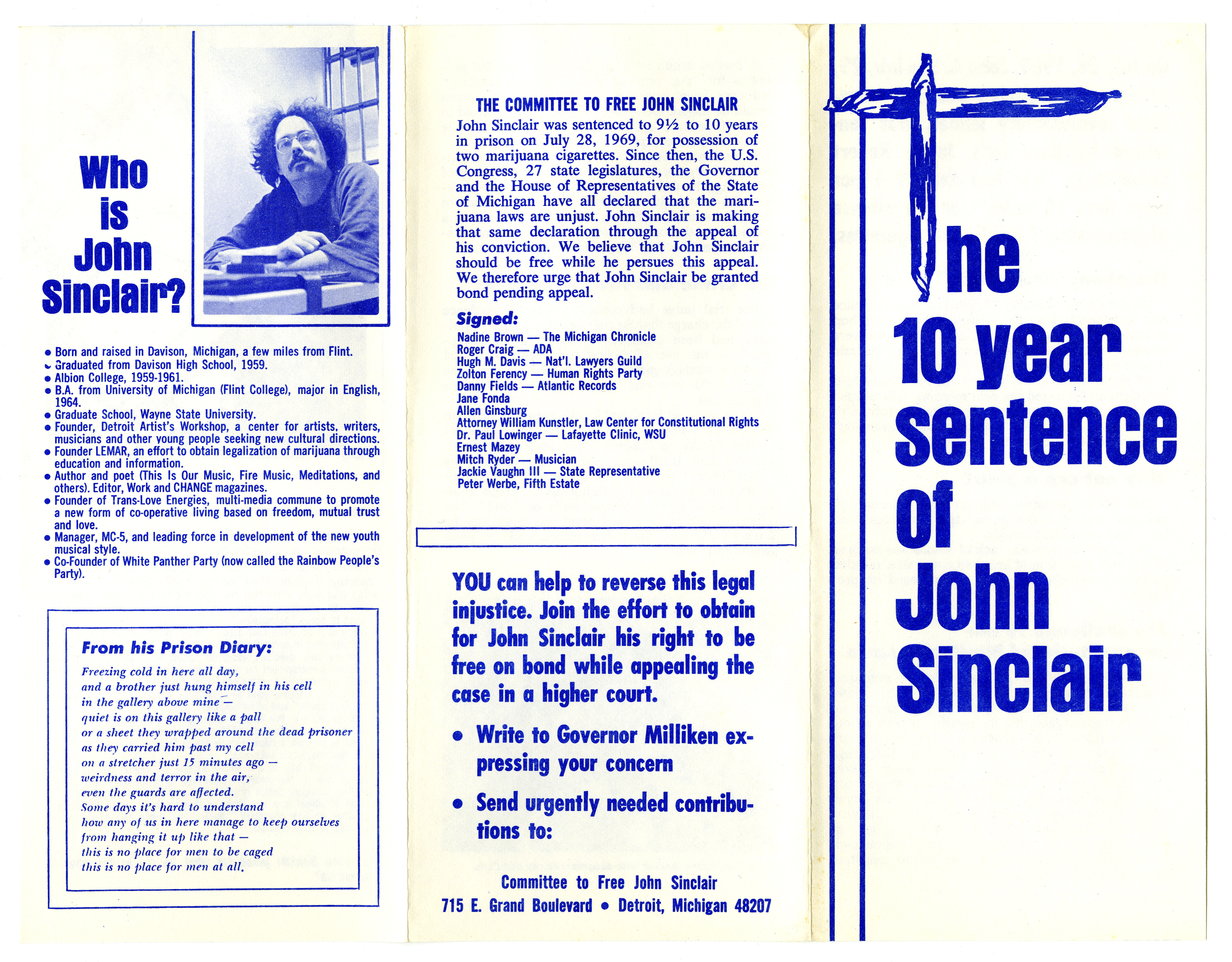 Free John Sinclair materials, 1969 (2)