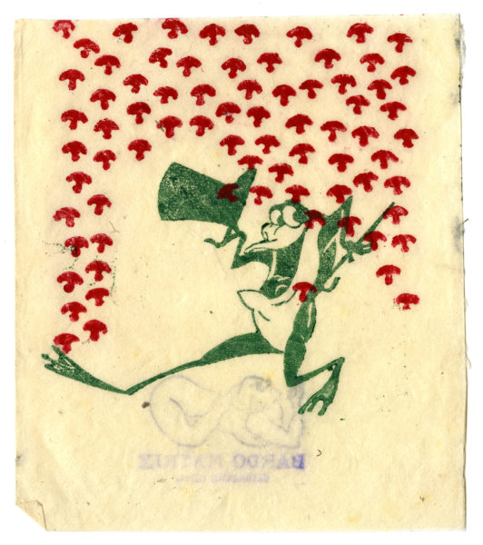 Bardo Matrix (Dana Young ?). [frog and mushrooms], n.d.