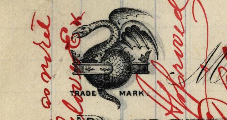 Invoice for needles, detail, John James & Sons, 1891