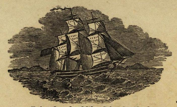 Outward manifest of merchandise, detail, 1840