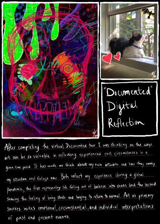 """Natalie McMaster. """"'Documented' Digital Reflection,"""" digital artwork, 2020."""