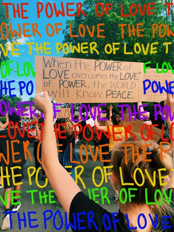 "Hailey Dearborn. ""The Power of Love,"" digital artwork, 2020."