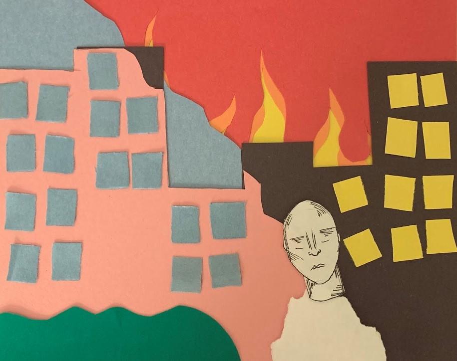 "Harrison Oven. ""Digital Reflection"" collage, 2020."
