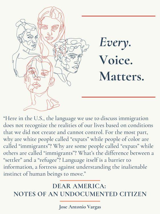 "Jenna Stoudt. ""Every. Voice. Matters."" digital artwork, 2020."