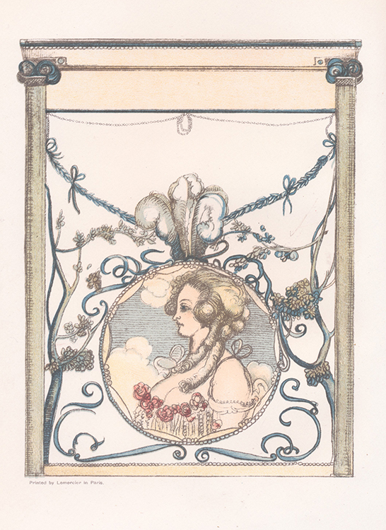 [Frontispiece]. The Story of Beauty and the Beast: The Complete Fairy Story Translated from the French, With Plates in Colour by Charles Conder.