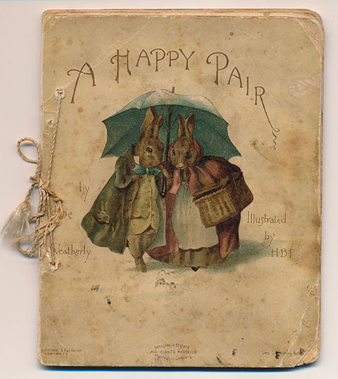 A Happy Pair: Illustrated by H.B.P. First edition. London: Hildesheimer & Faulkner and New York: Geo. C. Whitney, 1890.